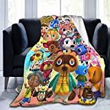 Bestrgi Ultra-Soft Micro Fleece Blanket A-n-i-m-a-l and Daily Novelty C-r-o-s_Sing Adult Kids Home Decor Warm All Season Plush Throw Blanket for Couch Bed Sofa Living Room Bedroom Office 50'x40'
