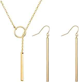 Best gold necklace set with earrings Reviews