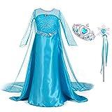 Monissy Mädchen Prinzessin Kleid Eiskönigin ELSA Kostüm Kinder Schneekönigin Frozen Cosplay...