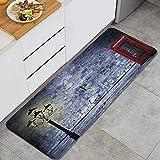 WOTAKA Alfombra de Cocina,Cabina telefónica británica en Londres, Reino Unido,Alfombrilla de Cocina Antideslizante Gruesa(45*120cm