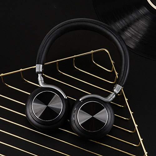 Auricolare Bluetooth Auricolare Riduzione Del Rumore Wireless Insonorizzato Gioco Di Musica Sport Auricolari Per Pc Auricolare Universale Suono Chiaro Nero