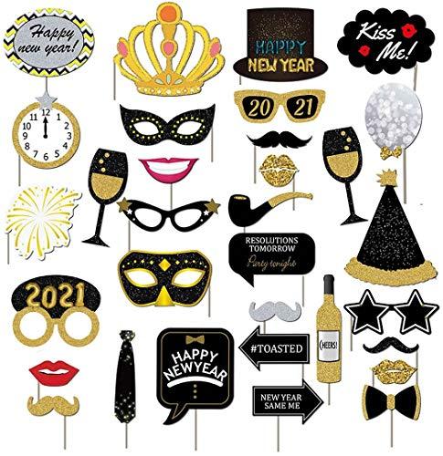 Dusenly 2021 Nouvel an fête Photo Stand Accessoires...