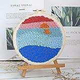 GHFF Poke Embroidered DIY Materialpaket Poke Poke Show Handgemachte gestickte Wollmalerei Bestickte Poke Poke Le Dun Stickerei Rub Rub Stickerei