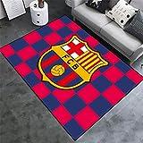 AMON LL AlfombrasColecciones de fútbol Alfombras, Cálido Moderno de Barcelona Impreso Multi Floor Mat,A,100×160cm