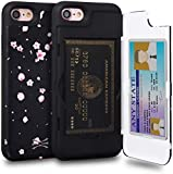 TORU CX PRO iPhone 8 Wallet Case Pattern Floral with Hidden Credit Card