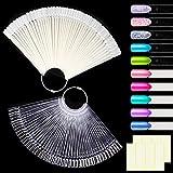 MELLIEX 100pcs Espositore a Ventaglio Nail Art Display Set Colore Trasparente e Naturale, ...