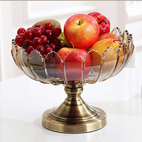 SMEJS Cuenco Redondo Grande de Cristal, Elegante ensaladera Multiusos, frutero