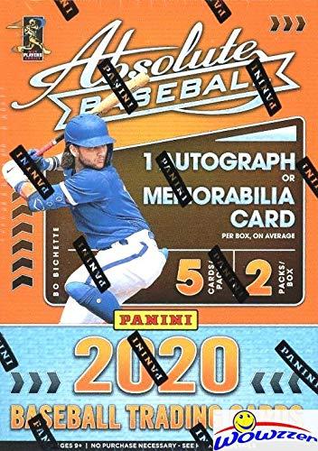 2020 Panini Absolute Baseball EXCLUSIVE Factory Sealed Retail Box with AUTOGRAPH or MEMORABILIA Card! Look for Rookies & Autos of Luis Robert, Bo Bichette, Kyle Lewis, Yordan Alvarez & More! WOWZZER!