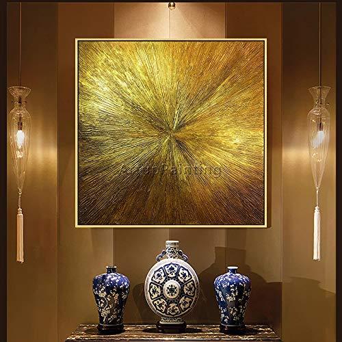 fdgdfgd Geometrische goldene Kunstöl abstrakte Malerei auf Wohnzimmer Dekoration auf stilvollen goldenen Leinwand Acryl Textur Wandkunst Malerei Wandbild