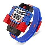 BINZI Kids Digital Fashion Creative Robot Watch Child Detachable Superman Toy Watch