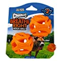 ChuckIt! Durable Breathe Right Ball Dog Toy, (Medium 2-Pack)