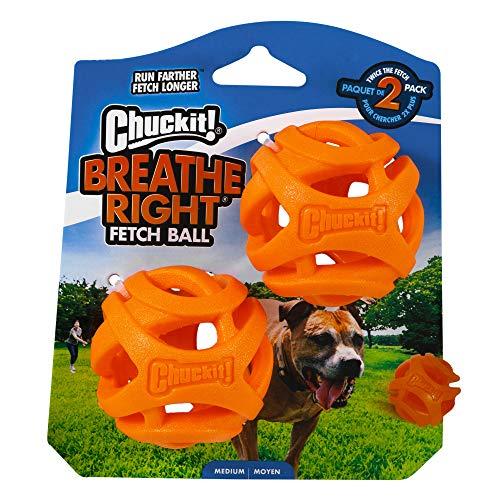 Chuckit! Cu32141 Ball Breathe Right Fetch Ball Medium, 2 Bälle Für Den Hund, M