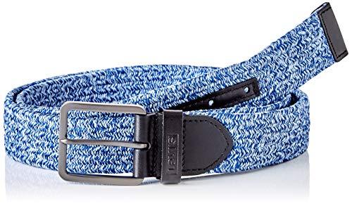 Levi's Woven Stretch Belt Cinturón, Azul Marino, 75 para Hombre