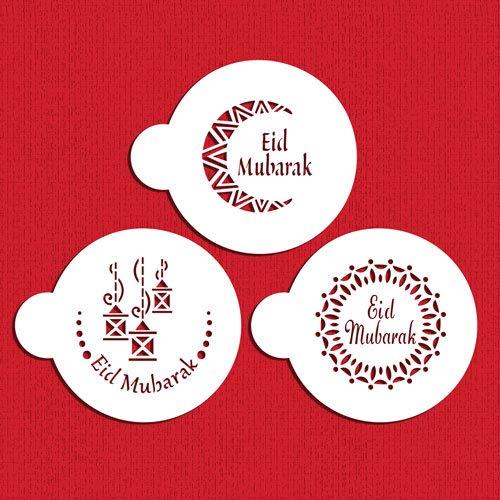 Eid Mubarak #2 Cookie Stencil Set C1058 by Designer Stencils