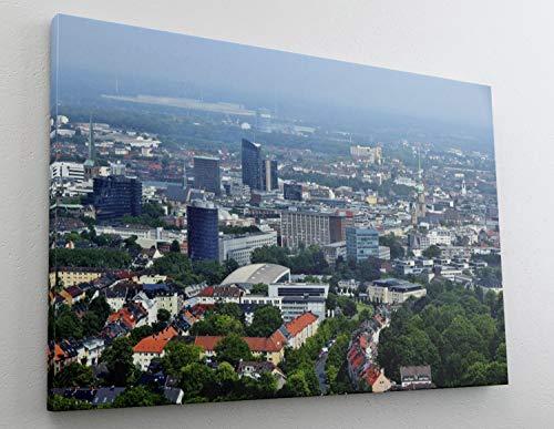 City Skyline Dortmund Canvas Leinwand Bild Wandbild Kunstdruck L1429 Größe 100 cm x 70 cm