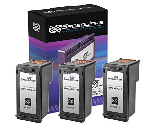 Speedy Inks Remanufactured Ink Cartridge Replacement for HP 74XL High-Yield (Black, 3-Pack)