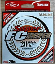 Sunline Super FC Sniper Fluorocarbon Fishing Line (Natural Clear, 12-Pounds/200-Yards)