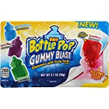 Baby Bottle Pop Gummy Candy Blast with Fizzing Dipping Candy Powder, 9 Count