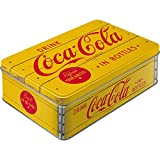 Nostalgic-Art - Coca-Cola Logo Yellow - Bote de Almacenamiento Plana