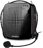 Amplificador De Voz Altavoz 15W 2000 mAh Bluetooth Voice Amplifier Portátil Recargable Con Micrófono Con Cable Auriculares Sistema De PA De Admite En formato Paraguía Turístico, Profesores Etc