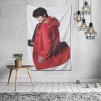 カスタマイズされたタペストリーネット赤diy部屋の壁カバー背景布インぶら下げ布装飾タペストリー三浦春馬 みうら はるまパターン写真カスタマイズされた60 * 40in