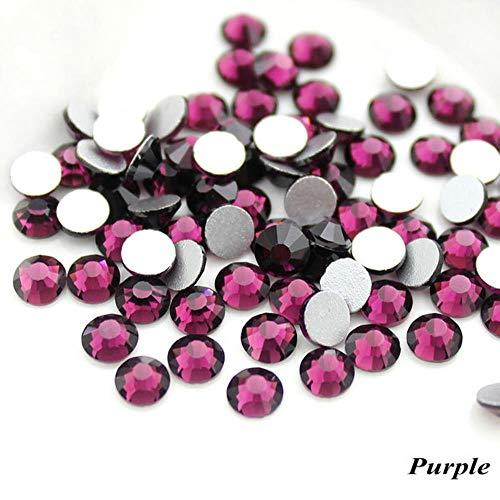 PENVEAT SS16 Multi-Couleurs Colle Non Strass 1440pcs / Paquet sur Les décorations pour Nail Art Tissu de vêtement Strass, Violet