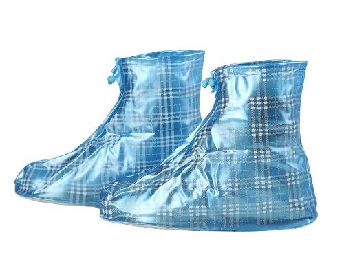 Gardeningwill Plaid réutilisable épaissir étanche protection antidérapante résistante à l'usure imperméable femme homme enfants Enfants Filles Chaussures Coque XXL:Suitable size 8-9 bleu
