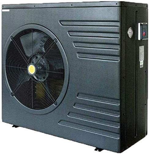 well2wellness Pool Wärmepumpe Mida.Black 11 On/Off - Poolheizung mit Einer Heizkapazität bis 10,7 kW Plus Abdeckplane