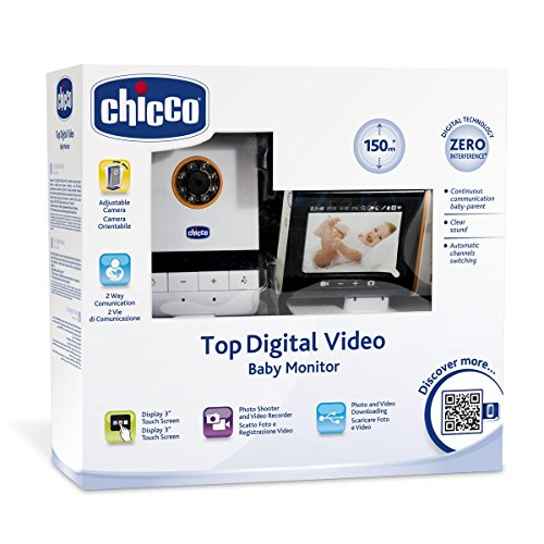 Chicco Top Digital - Baby monitor de video USB con cámara de video, fotos y mp3
