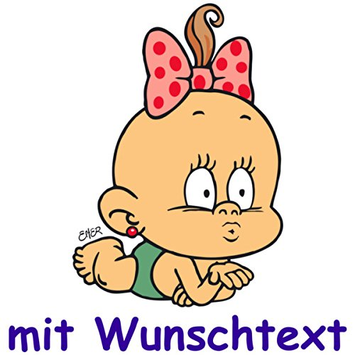Windel Winni Bunter Babyaufkleber mit Name/Wunschtext - Motiv BWW39