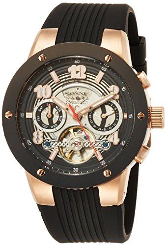 [ゾンネ] 腕時計 H017SERIES ブラック文字盤 H017PG-BK ブラック