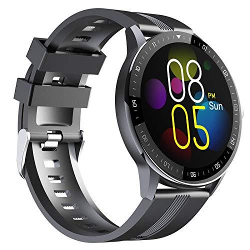 EIGIIS Relojes inteligentes para Android IOS, IP67 Impermeable Fitness Tracker Reloj con monitor de ritmo cardíaco/sueño, podómetro, cronómetro, rastreador de actividad para hombres, mujeres y niños