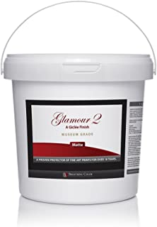 Glamour 2 is an Archival Print Varnish with a Water-Based Matte Finish, Doesn't Yellow, is Quick-Drying, Provides UV Protection, Perfect for Preserving Photographic Prints from Inkjet Printers - 1 Gal
