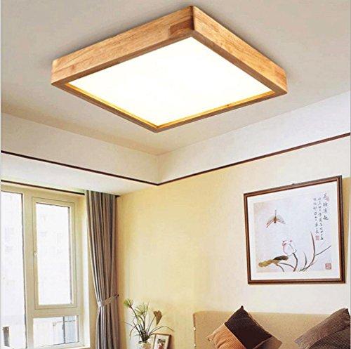 FJ-24W LED kreative Persönlichkeit von massivem Holz Decke Lampe Wohnzimmer Schlafzimmer Acryl Quadrat Hallenlampe 35 cm * 35 cm * 9cm220V-240V, white light
