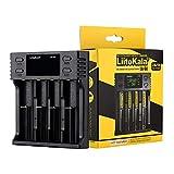Docooler Liitokala LII-S4 Cargador de batería LCD 4 Ranuras para 18650 26650 21700 18350 AA AA Batería de Litio NiMH Detector de polaridad automática Cargador