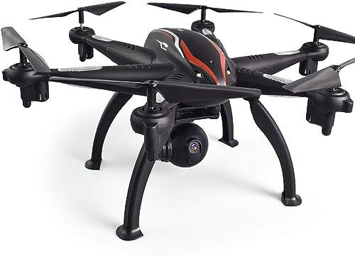 Kingko 080 Drone Weißinkel 1080 HD Kamera 5G WIFI FPV Folgen Sie mir 6x RC Quadcopter Selfie Drone 6 Achsen Kreisel GPS-Positionierung H nregulierung, Headless-Modus (Schwarz