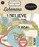 Carta Bella Paper Company Cartography No. 1 ephemera, red, blue, tan, sepia, yellow