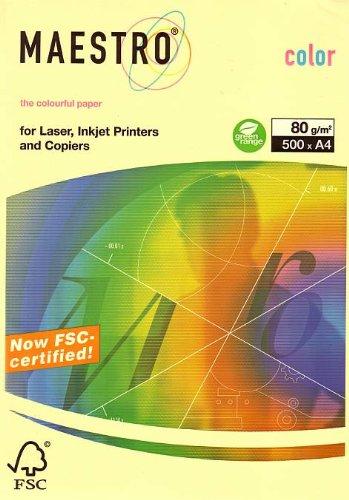 Papier Color A4 80g 500Bl Maestro gelb