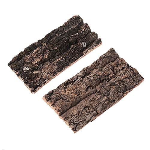 YUSHU - Corteza de paisajismo de terrario de reptiles - Decoración de hábitat de reptiles de roedores - para escalar pellejos de araña lagarto - Plataforma de corteza de árbol - Accesorios de dragón b