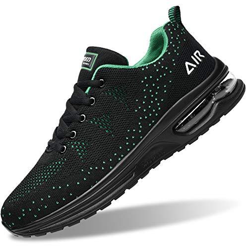 Zapatillas de tenis para hombre, ligeras, deportivas, para gimnasio, correr, caminar, EE. UU. 6.5-US12, verde (Verde), 41 EU
