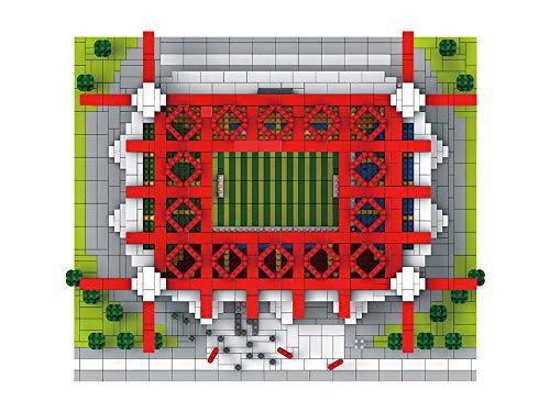 Aida Bz Modelo de Estadio Deportivo, el AC Milan Estadio de fútbol de la Liga Italiana de fútbol 3D Rompecabezas pequeñas partículas Bloques de construcción Modelo de ensamblaje difícil
