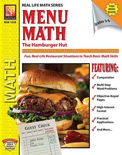MENU MATH: THE HAMBURGER HUT (X, ÷) (Real Life Math Series) (English Edition)