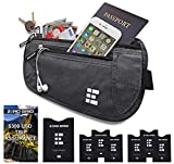 Zero Grid Money Belt w/RFID Blocking - Concealed Travel Wallet & Passport Holder