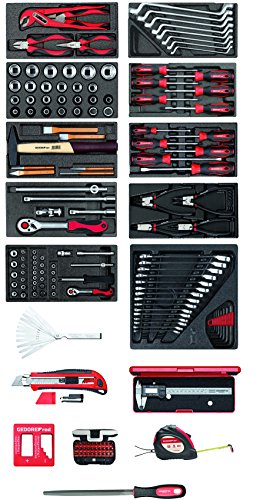 GEDORE Kit d'outils en mousse Rouge, R21010002