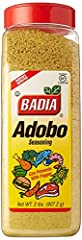 Top quality producy by Badia Ideal to have in your kitchen Perfect size This blend includes salt, granulated garlic, oregano, black pepper and turmeric. Ideal for braised chicken and pork