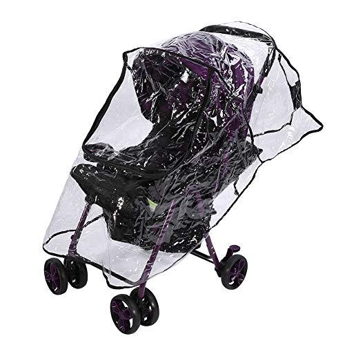 Kinderwagen Regenhoes Transparant PVC Winddicht Stofdicht voor reizende kinderwagen Weerbescherming