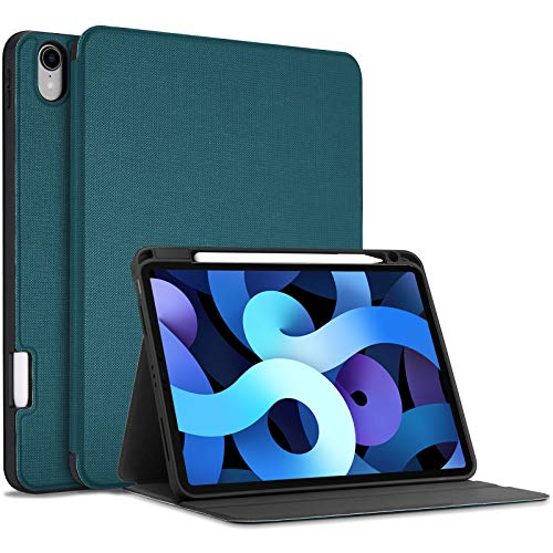 [Updated Version] ProCase for iPad Air 4 10.9 Inch Case 2020 [Support 2nd Gen Pencil Charging and Attachment], Slim Protective Folio Book Case Cover, Support auto Sleep/Wake feature –Teal