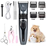 SKYREX Pet Hair Clippers Low Noise Rechargeable Cordless Hair Trimmer Pet Grooming Professional