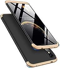 LEECOCO Xiaomi Redmi Note 6 Pro Case Ultra Thin 3 in 1 360 Degree Full Body Case Premium Slim Shockproof Hard PC Plastic Anti-Scratch Bumper Cover for Xiaomi Redmi Note 6 Pro 3 in 1 Black Gold AR
