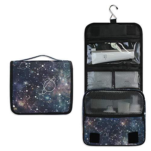 Hanging Toiletry Bag Planet Star Constellation Galaxy Waterproof Wash Bag Makeup Organizer for Bathroom Men Women